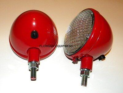 12 Volt HEADLIGHT Pair for FARMALL CUB A B C H M SUPER 140 TD14A TD18A Set Of 2 (Farmall H 12 Volt)