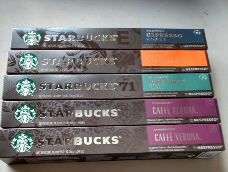 Starbucks Nespresso Compatible Pods - Variety Pack - 50 count Expiration 1/2022