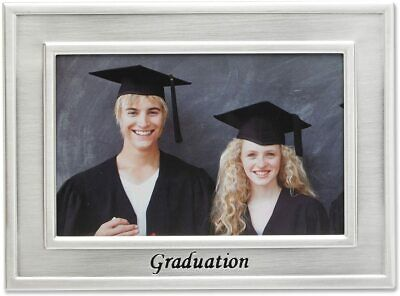 Lawrence Frames Silver Sentiments Luxury Frame, Graduation, 6 by 4-Inch