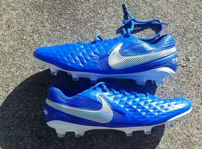 Nike Tiempo Legend 8 Elite FG Soccer Cleats Blue/White New Size 12 US AT5293-414