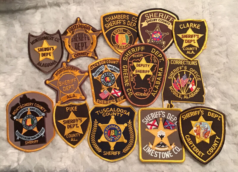 Mixed lot of 27  Sheriff/Police  Mixed Counties Patches (a134)