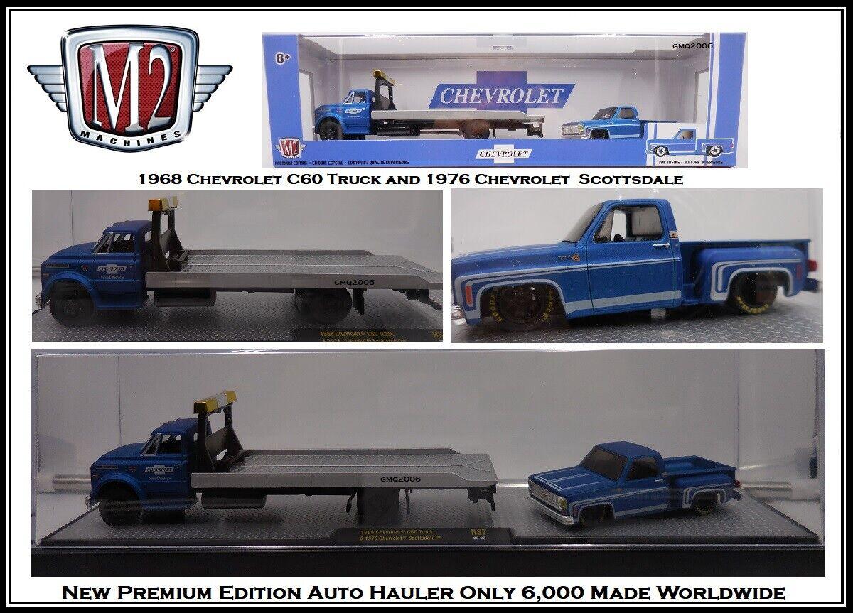 M2 Machines 1:64 Diecast Car '68 Chevy C60 & '76 Scottsdale in Display Case