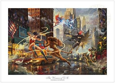 Thomas Kinkade Studios The Women of DC 18 x 27 Commemorative LE Wonder Woman