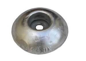 Aluminium Round/Button Anode 100diax30mm Boat hulls, rudders & trim tabs bolt on