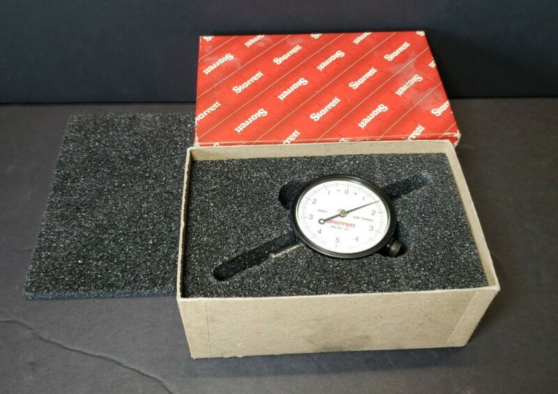 Starrett 25-111 Dial Indicator with Box - Appears Unused