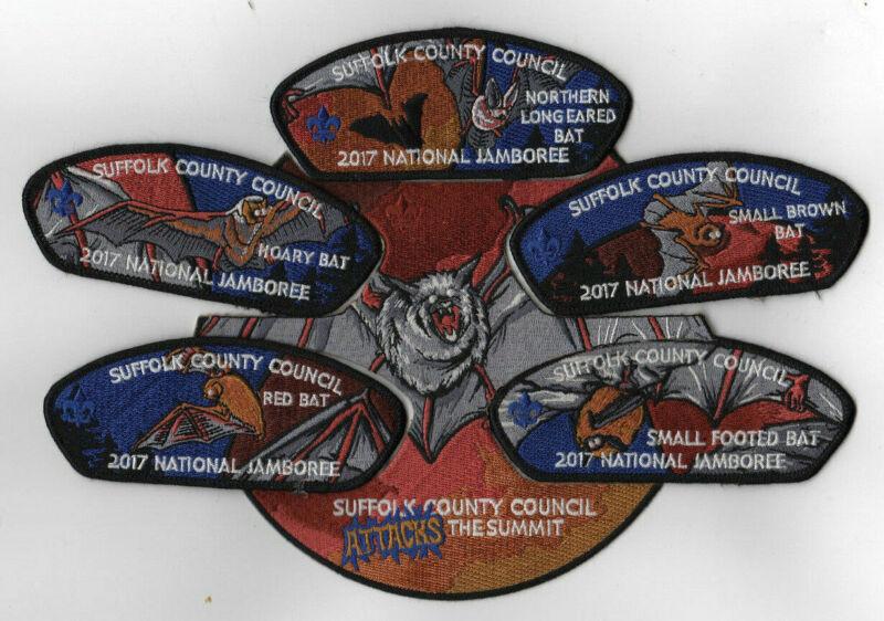 2017 National Scout Jamboree Suffolk County Council 6 pc Set BLK JSP [NJ2099]