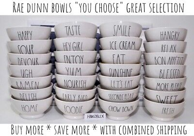 "RAE DUNN ""YOU CHOOSE"" BOWL SOUP BOWL WITH HANDLE *SAVE ON SHIPPING* NEW HTF '18"