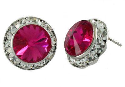 Crystal Earrings Pink 1/2