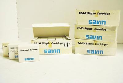 Lot Of  23  Genuine Savin Staple Cartridge 7640 Product No  4156