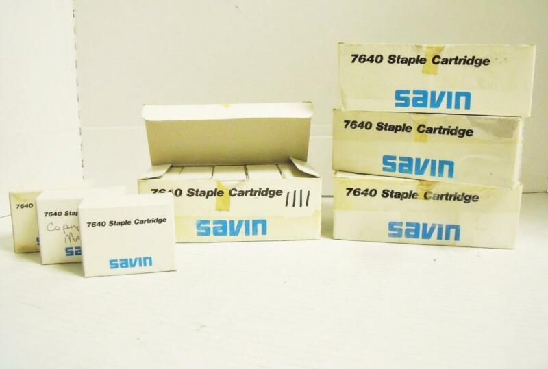 Lot of (23) Genuine Savin Staple Cartridge 7640 Product No. 4156