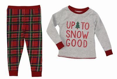 Mud Pie Kids Tartan Red Plaid Christmas Boys Pajamas
