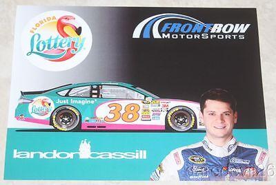 2016 Landon Cassill Florida Lottery Ford Fusion Daytona 500 Nascar Sc Postcard