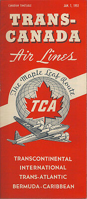 Trans Canada Air Lines System Timetable 1 1 51  6023