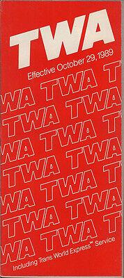 TWA system timetable 10/29/89 [308TW] Buy 2 Get 1 Free