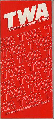 TWA system timetable 12/15/88 [308TW] Buy 2 Get 1 Free