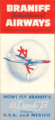 Braniff International Airways system timetable 4/30/61 [5044]