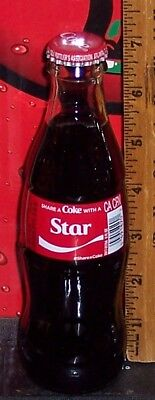 2018 SHARE A COKE WITH A STAR 8 OUNCE GLASS COCA COCA BOTTLE 1 OF A 6 BTL SET