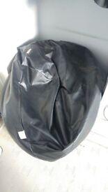 Bean Bag Bazaar - Black Leather Bean Bag