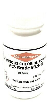 Stannous Chloride Sncl2 99 Acs Grade Powder 500 Grams Usa Same Day Ship
