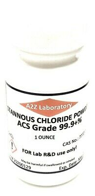 Stannous Chloride Sncl2 99 Acs Grade Powder 1 Oz Usa Same Day Ship