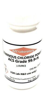 Stannous Chloride Sncl2 99 Acs Grade Powder 1 Oz Usa Same Day Ship