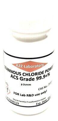 Stannous Chloride Sncl2 99 Acs Grade Powder 8 Oz Usa Same Day Ship