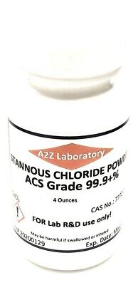 Stannous Chloride Sncl2 99 Acs Grade Powder 4 Oz Usa Same Day Ship