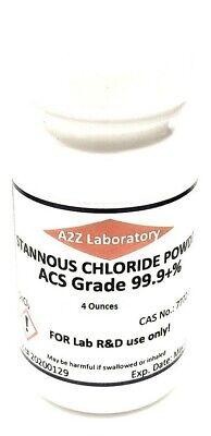 Stannous Chloride Sncl2 99 Acs Grade Powder 4 Oz Usa Same Day Ship