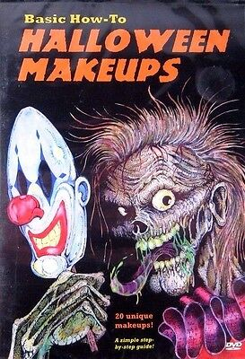 Basic How To Halloween Makeups  20 Unique Makeups New DVD Sealed! Zombies Ghouls (Horror Movie Halloween Makeup)