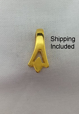 Gold Diamond Shaped Pinch Bails (Pkg 5/10) Ships Free from WI, USA - Diamond Shaped