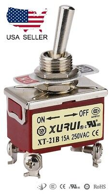 Heavy Duty Dpst On-off Toggle Switch 20a 125v 15a 250v Screw Terminals 21b