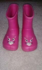 Size 4 Pink Wellies