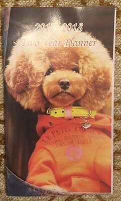 Pocket 2-year Calendar Planner 20172018 Organizer Appointment Book Funny Dog