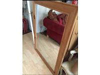 Beautiful large pine mirror