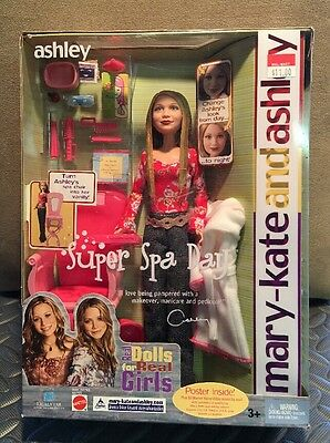 """Mary Kate & Ashley Olsen """"Super Spa Day"""" Ashley doll, New in Package! VINTAGE"""
