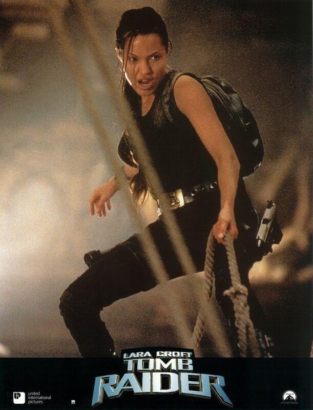 Lara Croft Tomb Raider lobby cards - Angelina Jolie, Daniel Craig