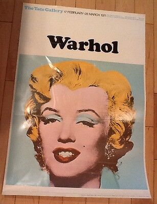 ANDY WARHOL Original 1971 Tate Gallery Exhibition Poster Marilyn