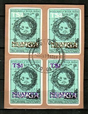 NIUAFO'OU ( Tonga ) Scott's 17-18 ( 4v ) Maps, Surcharges F/VF Used ( 1983 )