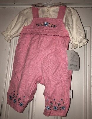 Little Girl 80s Outfits (Vtg 80s Mufflings By Little Me Pink Striped Romper Outfit Sz 3m NWT)