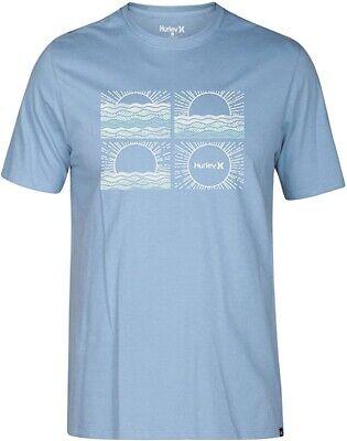 Hurley Men's Size Small Blue Sunrise Crew Neck Surf Short Sleeve T-Shirt