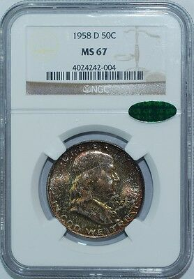 Click now to see the BUY IT NOW Price! 1958 D NGC MS67 CAC FRANKLIN HALF DOLLAR