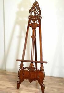 chevalet artiste baroque en bois acajou sculpte decoration peinture tableau ebay. Black Bedroom Furniture Sets. Home Design Ideas