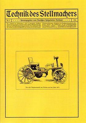Technik des Stellmachers Nr. 4/1924, Handwerkskunst,Holz in Wagen und Karosserie