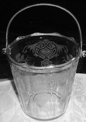 APPLE BLOSSOM BY CAMBRIDGE ICE BUCKET CLEAR, EXCELLENT,  FREE SHIPPING