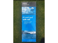 NEW Tesco Metal Goal with Net