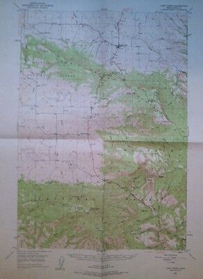 Vintage USGS  Topo Map  1949 Long Creek Grant County Oregon