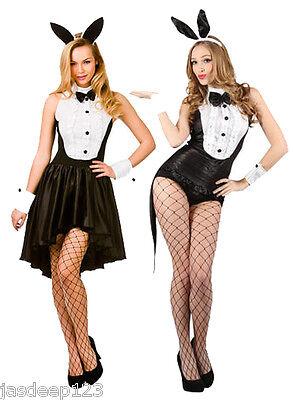 Womens Hot Sexy Play Boy Bunny Hostess Fancy Dress Costume Halloween Ladies Fun](Play Boy Bunny Halloween Costumes)