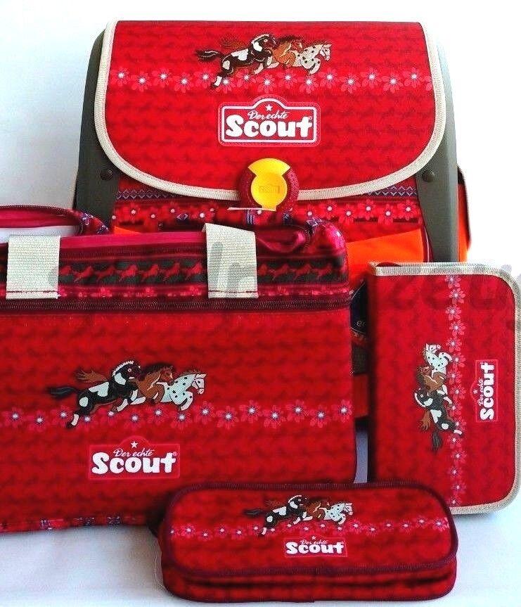 Scout Buddy 3 Freunde Pferd Schulranzenset 4-teilig Mädchen Rucksack Sporttasche