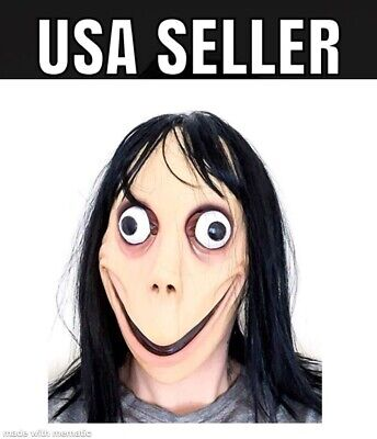 Momo Mask Scary Halloween Cosplay Costume Wig Adult Latex Jason Friday the - Halloween Masks Scary