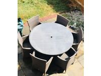 Garden Table And Chairs 6 Seater Furniture